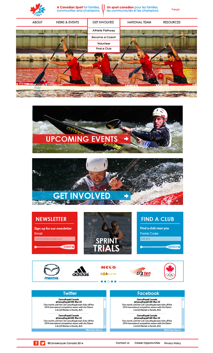 Canoe Kayak Canada Home Page Full View