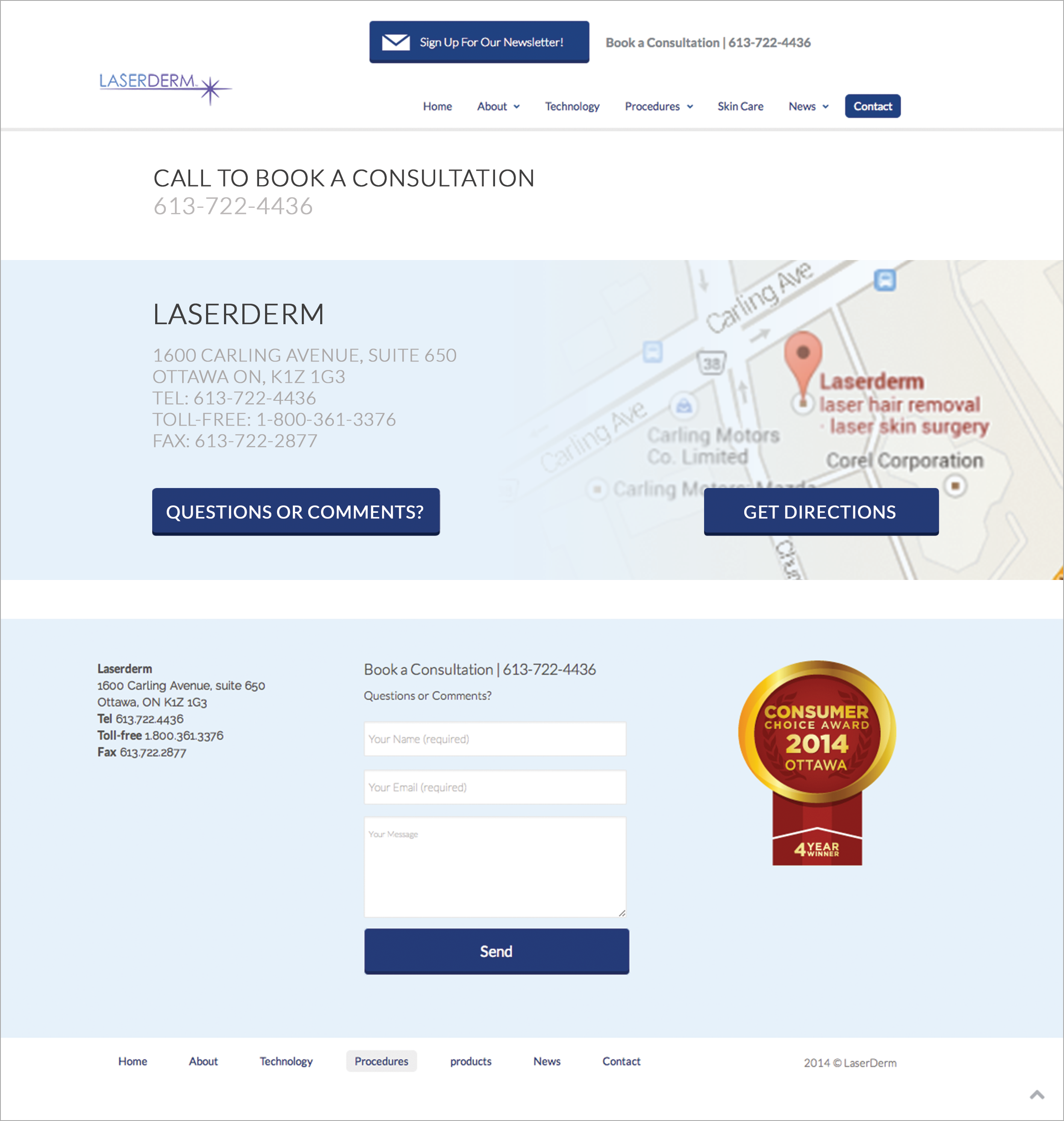 LaserDerm Contact Page